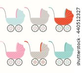 baby strollers collections.baby ... | Shutterstock .eps vector #440512327