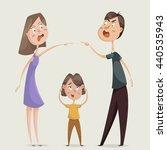 divorce. family conflict.... | Shutterstock .eps vector #440535943
