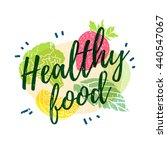 logo  icon  poster healthy food ... | Shutterstock .eps vector #440547067
