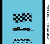 race car icon. | Shutterstock .eps vector #440551867