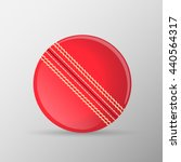 red traditional cricket ball.... | Shutterstock .eps vector #440564317
