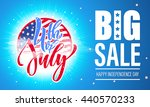 fourth of july big sale banner. ... | Shutterstock .eps vector #440570233