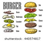 burger ingredients on white... | Shutterstock .eps vector #440574817