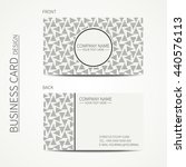 vector simple business card... | Shutterstock .eps vector #440576113