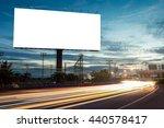 billboard blank for outdoor... | Shutterstock . vector #440578417