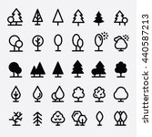 trees and tree icon set vector... | Shutterstock .eps vector #440587213