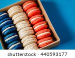 makaruns in colors of flag of... | Shutterstock . vector #440593177