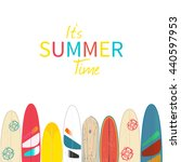 vector it s summer time poster... | Shutterstock .eps vector #440597953