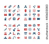 house system color icons. set... | Shutterstock . vector #440603083