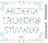latin alphabet  uppercase... | Shutterstock .eps vector #440606503