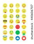set of emoji. emoticons flat set | Shutterstock .eps vector #440606707