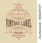vintage typographic label... | Shutterstock .eps vector #440639737