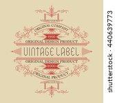 vintage typographic label... | Shutterstock .eps vector #440639773