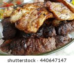 barbecue meat | Shutterstock . vector #440647147