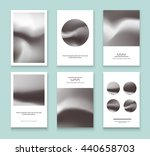 set of black and white... | Shutterstock .eps vector #440658703