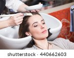 Barber Girl Combing Her Hair I...