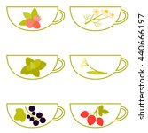 herbal tea. a cup with... | Shutterstock .eps vector #440666197
