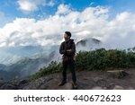 traveler happiness on the road... | Shutterstock . vector #440672623