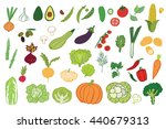 vegetables graphic vector color ... | Shutterstock .eps vector #440679313
