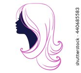 woman face silhouette isolated... | Shutterstock . vector #440685583