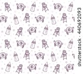 vector seamless pattern with... | Shutterstock .eps vector #440692093