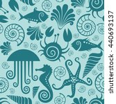 vector seamless pattern with... | Shutterstock .eps vector #440693137