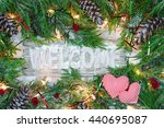 Holiday Welcome Sign With Gree...