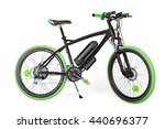 black and green electric bike... | Shutterstock . vector #440696377