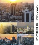 Постер, плакат: Collage of Sunset Kiev