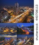 Постер, плакат: Collage of Night Kiev