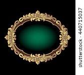 vector vintage border frame... | Shutterstock .eps vector #440715037