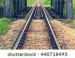 railroad tracks an old worn... | Shutterstock . vector #440718493