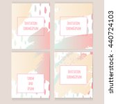 set of vector universal cards.... | Shutterstock .eps vector #440724103