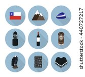 chile icons. chilean theme.... | Shutterstock .eps vector #440727217
