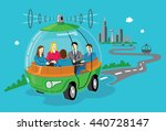 self driving car concept  pod... | Shutterstock .eps vector #440728147