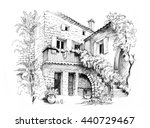 black and white sketch...   Shutterstock . vector #440729467