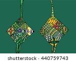 ketupat zentangle style.... | Shutterstock .eps vector #440759743