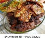 barbecue meat | Shutterstock . vector #440768227