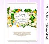 romantic invitation. wedding ... | Shutterstock .eps vector #440772163