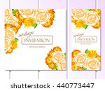 invitation with floral... | Shutterstock .eps vector #440773447