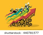 business men and a path to... | Shutterstock .eps vector #440781577