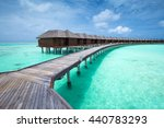 beach with water bungalows at... | Shutterstock . vector #440783293