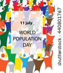 world population day   stylized ...   Shutterstock .eps vector #440801767