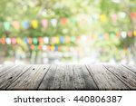 empty wooden table with blurred ... | Shutterstock . vector #440806387