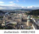 panoramic view of salzburg... | Shutterstock . vector #440817403