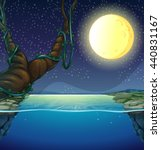nature scene with fullmoon and... | Shutterstock .eps vector #440831167
