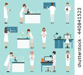 characters set scientists with... | Shutterstock .eps vector #440841523