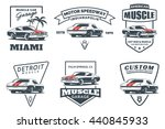 set of classic muscle car logo  ... | Shutterstock .eps vector #440845933