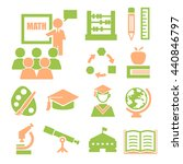 education  learning icon set | Shutterstock .eps vector #440846797
