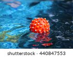 Rubber Ball Floating In...